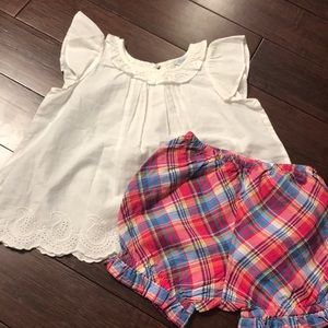 Ralph Lauren tank and bloomer shorts